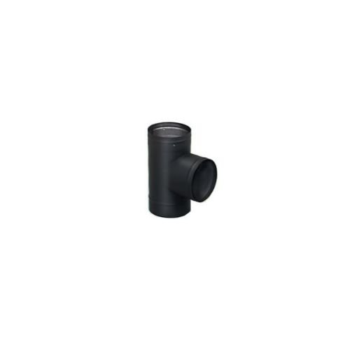 - Chimney 21193 Heat-Fab 22GA Black Stovepipe - 7 Inch Tee