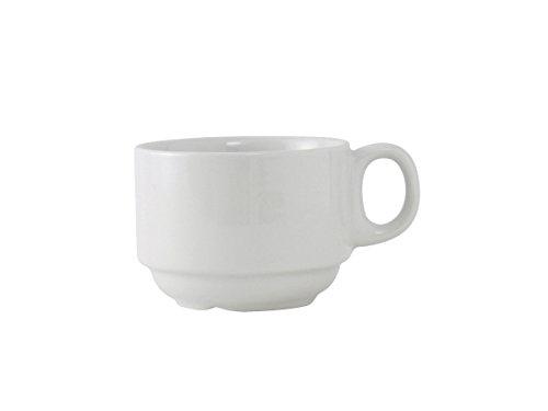Tuxton ALF-0703 Vitrified China Alaska/Colorado Accessories Stackable Cup, 7 oz, 3-1/4