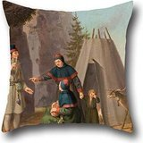 [Pillow Shams 16 X 16 Inches / 40 By 40 Cm(twice Sides) Nice Choice For Gf,bar Seat,indoor,adults,christmas,play Room Oil Painting Pehr Hilleström - The Costumes Of The] (Toga Costumes Patterns)
