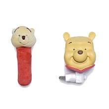 - Neutral Pooh Night Light and Rattle Gift Set