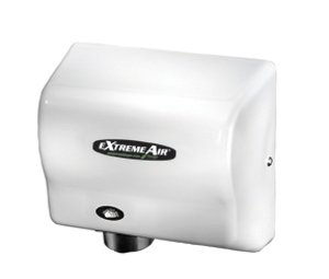 American Dryer ExtremeAir EXT7 ABS Cover High-Speed Automatic Hand Dryer, 12-15 Second Dries, 100-240V, 540W Maximum Power, 50/60Hz, White
