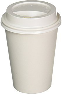 (JUMBO set of 800 - Durable 12 oz. Paper Disposable Coffee Cups Set with White Leak-proof Lids)