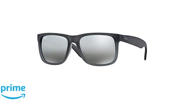 7c41a332375ca6 Amazon.com  Ray Ban RB4165 852 88 Grey Silver Gradient Mirror 55mm  Sunglasses  Clothing