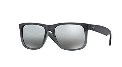 5aec3303d8d Image Unavailable. Image not available for. Color  Ray Ban RB4165 852 88  Grey Silver Gradient Mirror 55mm Sunglasses