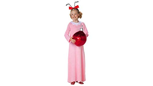 Dr Seuss Kids Cindy Lou Who Costume for Dr. Seuss's Birthday Costume Idea (Large/X-Large) Pink]()