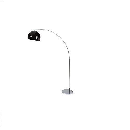 Lámpara de pie arco LED 6w cromado lámpara de pie en Negro ...