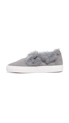 Rachel Zoe Damen Slip-on Sneaker Burke mit Fellfutter Grau