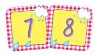 April Gingham Calendar Days - Gingham Calendar
