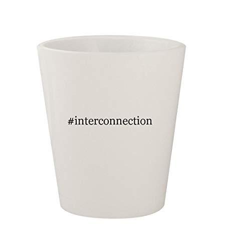 (#interconnection - Ceramic White Hashtag 1.5oz Shot Glass )