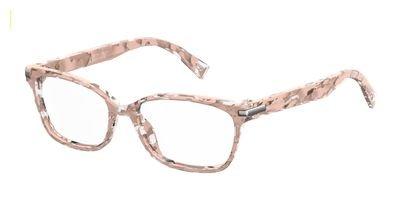 Marc Jacobs Plastic Rectangular Eyeglasses 53 0HT8 Pink - Frames Marc Jacobs Havana