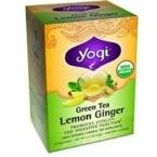 YOGI TEA,OG2,GRN,LEMON GINGER, 16 BAG