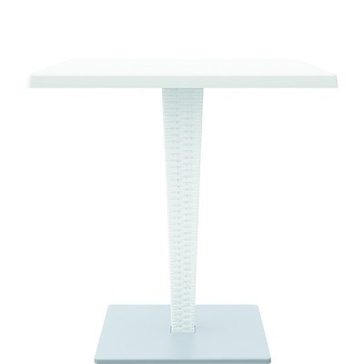 Compamia Riva Werzalit Square Top Dining Table White
