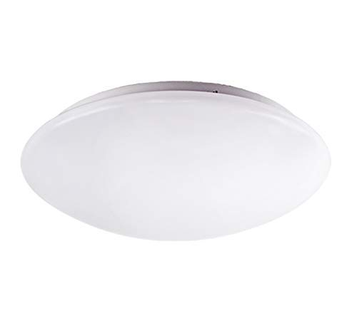 OSTWIN 11-inch LED Flush mount Ceiling Light MS Series 16W (75 Watt equivalent), Dimmable, 3000K (Warm white), 1395 Lumens, White Finish with Acrylic white shade, ETL and ENERGY STAR listed
