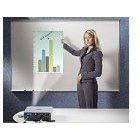 Ghent Dry-Erase Projection Board, 4 by 4-Feet, Aluminum Frame/White