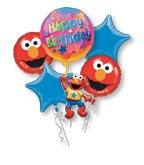 Anagram Elmo Birthday Balloon Bouquet (Multi, -