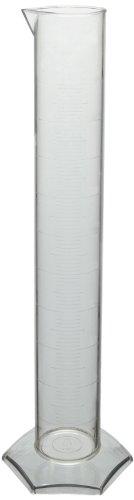 Azlon 237885 Polymethylpentene Plastic Class B Graduated Cylinder, 500mL - Polymethylpentene Graduated Cylinder
