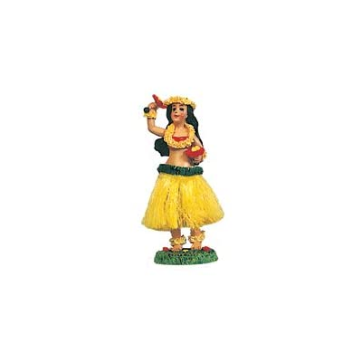 Dashboard Hula Doll Girl with Uliuli 6.5'' tall 40607 Boxed - hawaii dashboard dolls - Perfect gift or souvenir - assorted colors: Home & Kitchen
