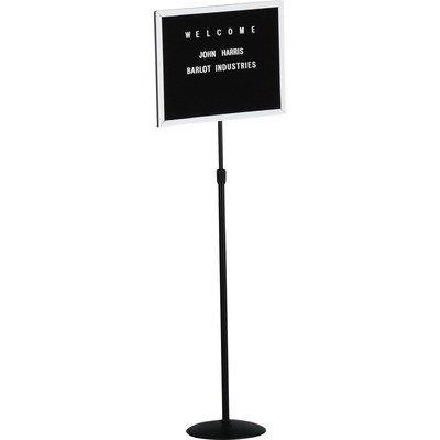 Single Pedestal Free-Standing Letter Board Size: 12'' H x 18'' W