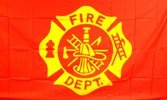NationalCountryFlags New 3x5 Fire Department Flag FireFighter 3 x 5 Banner