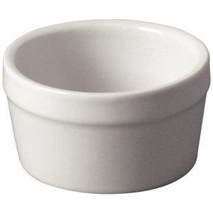 Mediterranean Ramekin White. Dimensions: 45(h) x 77(dia)mm. Box quantity: 6
