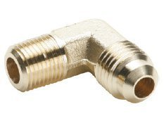 Parker Hannifin 149F-4-4 Brass 90 Degree Forged Male Elbow, 45 Degree Flare Fitting, 1/4