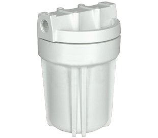 Hydronix HF3-5WHWH14 5'' White Housing with White Rib Cap, 1/4'' Ports by Hydronix