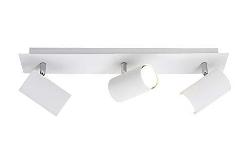 Trio Lighting Marley Lámpara de Techo con 3 Luces GU10, Blanco, 48 cm