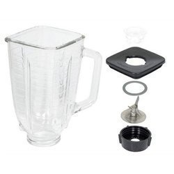 5 Cup Square Top 6 Piece Complete Glass Jar Replacement Set