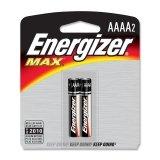 Energizer AAAA Alkaline Battery 2 Pack - E96BP2