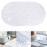 Danibos Bath Mat, Ultra Soft Non-slip Oval-shaped Antibacterial Bathroom Mat,kids Safety Bath Tub Shower Mat (clear, 27''X15'') by Danibos