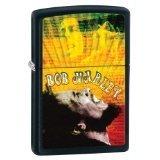Zippo Matte Bob Marley Guitar Lighter (Black, 5 1/2x 3 1/2-Cm) ()