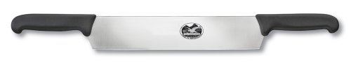 Victorinox 12 in. Cheese Knife, Double Handle, Fibrox, Black by Victorinox