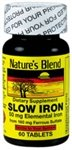 Nature's Blend Slow Iron 50 mg  Compare to Slow Fe® 60 Tabl