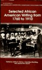 Selected African American Writing, 1760-1910, Arthur P. Davis, 0553214357