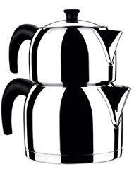 KORKMAZ Orbit PREMIUM 18/10 Stainless Steel Turkish Teapot - 2.2 lt. Capacity,18/10 Stainless Steel