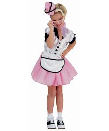 [Soda Pop Girl Large 50s 50's Retro Costume] (Greaser Girl Outfits)