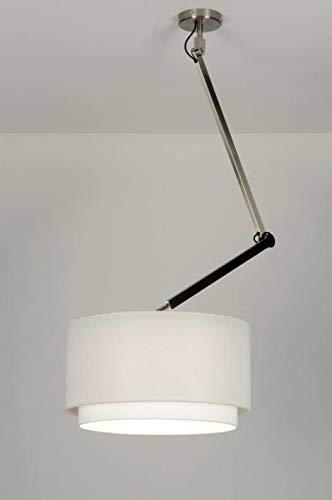 Lumidora Pendelleuchte Modern Design Weiss Stoff