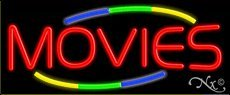 Movies Handcrafted Real GlassTube Neon Sign