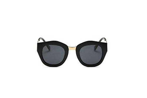 Weidan new polarized sunglasses, Ms. dazzling driving mirror classic retro glasses 901 (Black frame / dark gray lenses, - 2018 What In Sunglasses Are Style