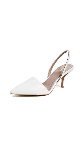 Diane von Furstenberg Women's Mortelle Slingback Pumps, White, 10 M US (Dvf Shoes)