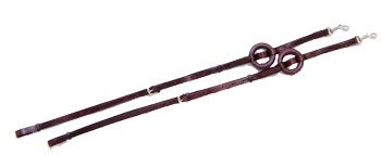 Performers 1st Choice German Style Leather Side Reins - Brown