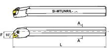 SI-MTUN R/L Boring Bars SI-MTUNR 20-4, Shank: 1-1/4', Min Bore: 1.530', OAL: 14', Center Line F: .765', Use with TNM Insert: 43_ , RH Shank: 1-1/4 Min Bore: 1.530 OAL: 14 Center Line F: .765 Bison