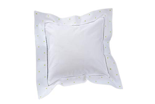 Dot Green Swiss - OPTCO HOME Embroidery Swiss Dot 12x12 Square Pillows. Pillow Form Included.8 Different Dot Color. (Light Green Swiss Dots)