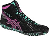 ASICS Men's Aggressor 3 L.E. AG Wrestling Shoe, Black/Onyx/Pink Glow, 7.5 M US