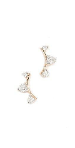 d Three Diamond Amigos Curve Posts (Adina Reyter : Jewelry Earrings)