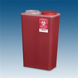 Sharps Container, 14 qt. Red Big Mouth, case/10 by PPI
