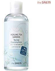[the SAEM] Healing Tea Garden Cleansing Water Tea Tree 300ml (10.14 fl.oz) - One Step No Wash Cleansing Water, Pore and Sebum Care, Skin Refeshing and Moisturizing from THESAEM