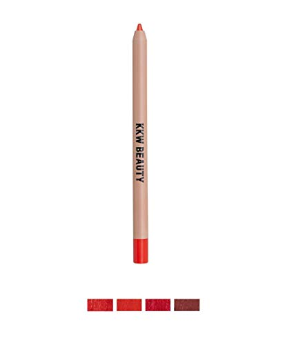 Kkw Beauty Lip Liner Red Creme, 0.04oz (Red 3 Lip Liner- Vivid Blue Red)