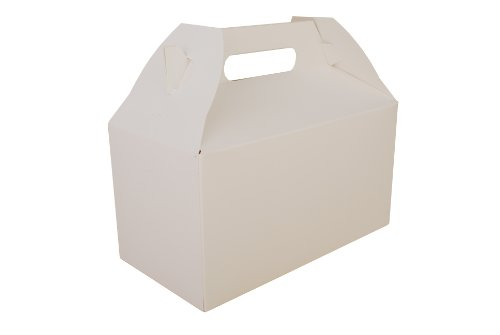 (Southern Champion Tray 2707 Paperboard White Medium Barn Style Carry Out Box, 9-1/2