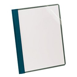 Earthwise(R) Clear-Front Report Covers, Dark Blue With Clear Front, Box Of 25